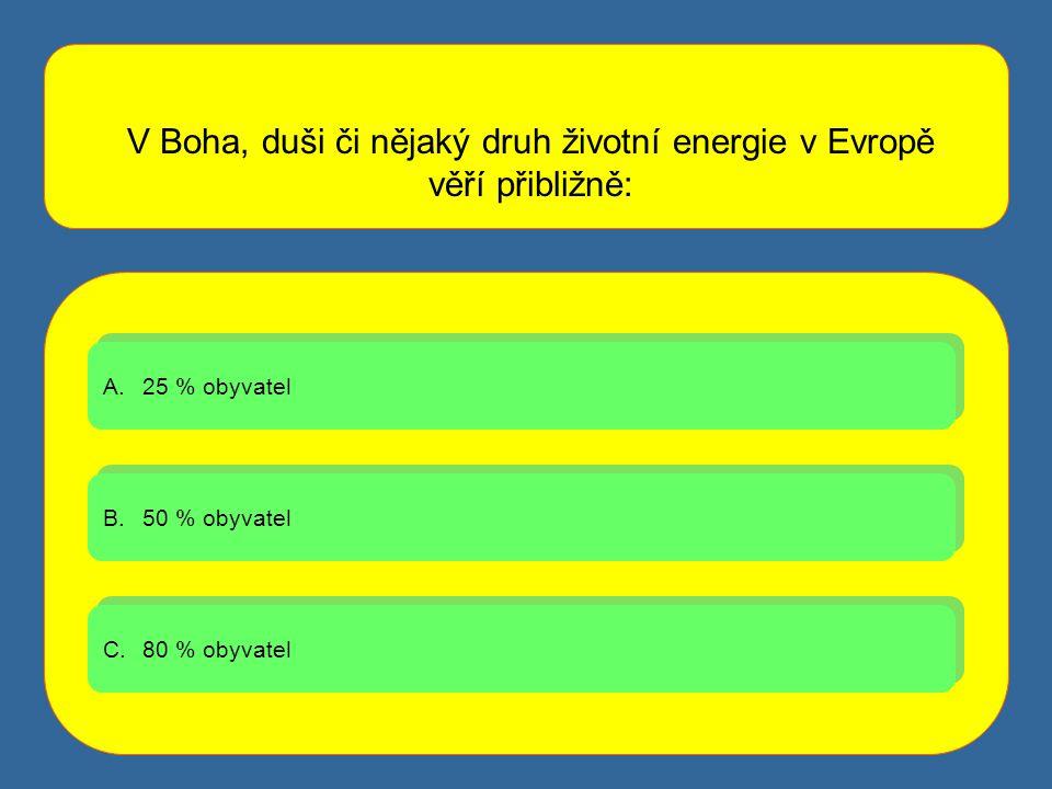 V Boha, duši či nějaký druh životní energie v Evropě věří přibližně: