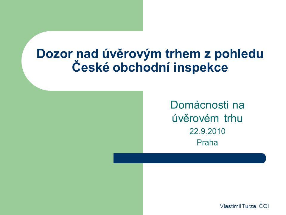 Dozor nad úvěrovým trhem z pohledu České obchodní inspekce