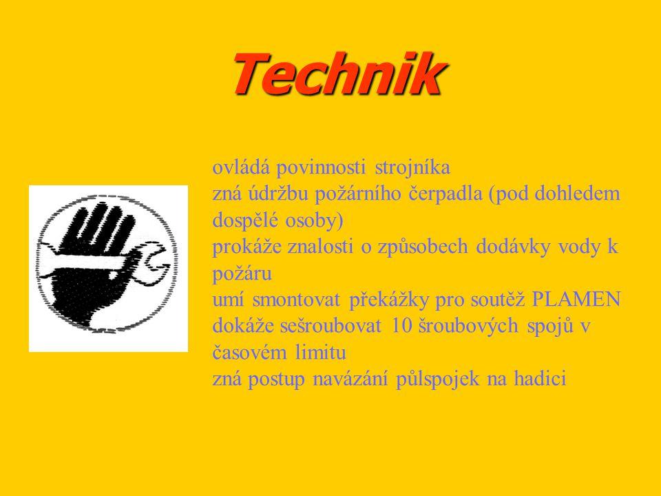 Technik ovládá povinnosti strojníka