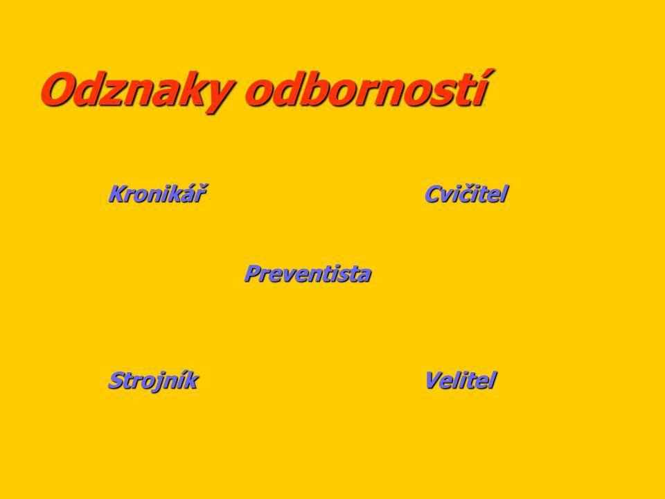 Odznaky odborností Kronikář Cvičitel.