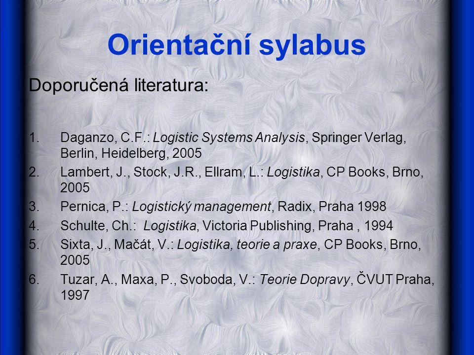 Orientační sylabus Doporučená literatura: