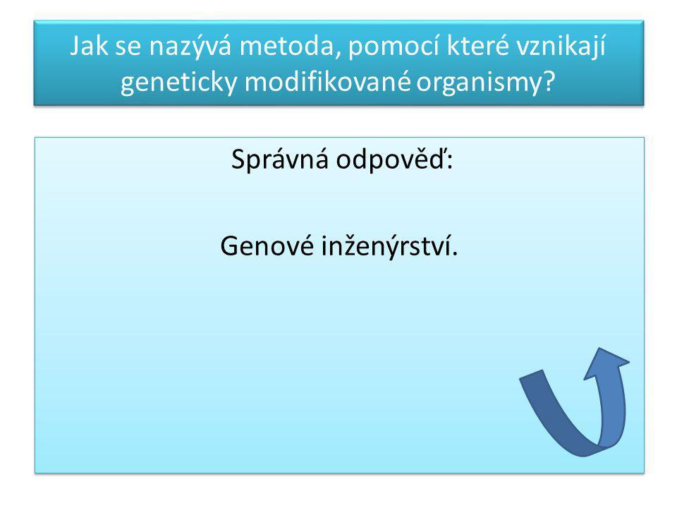 Správná odpověď: Genové inženýrství.