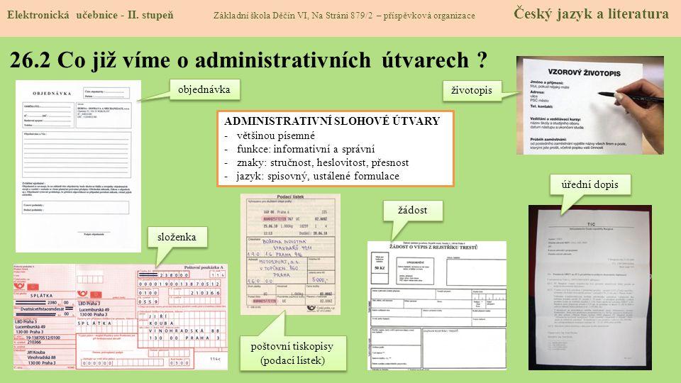 26.2 Co již víme o administrativních útvarech