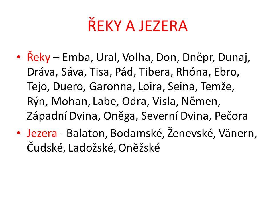ŘEKY A JEZERA