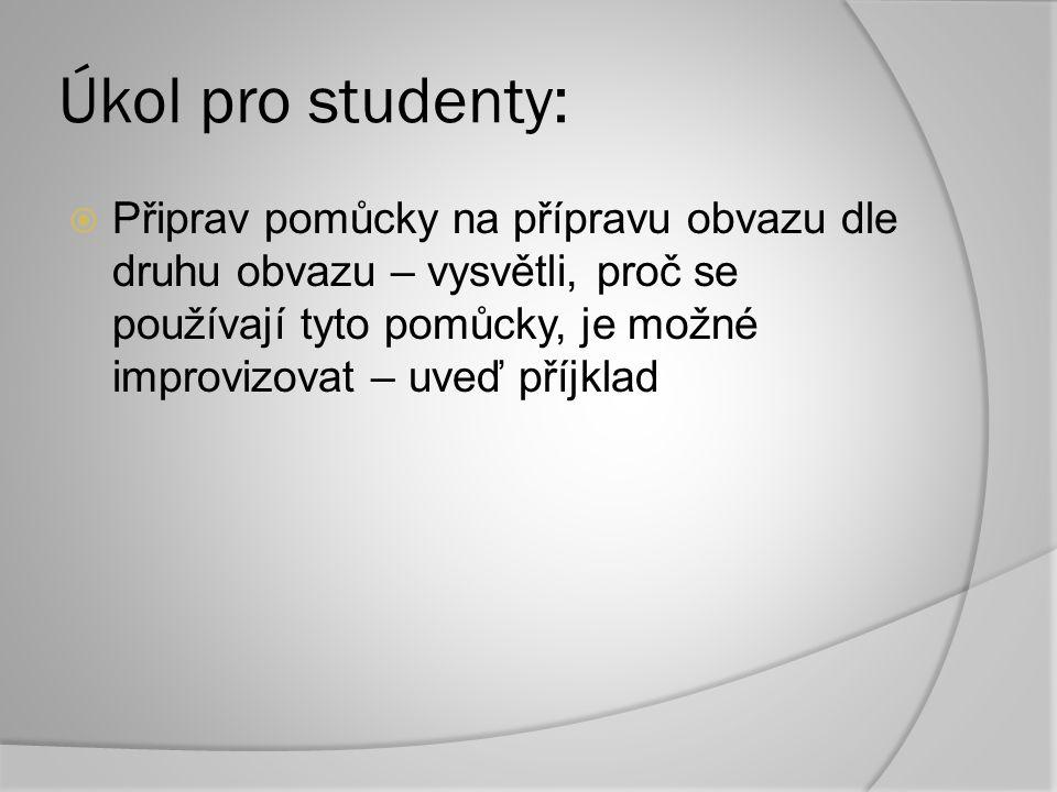 Úkol pro studenty: