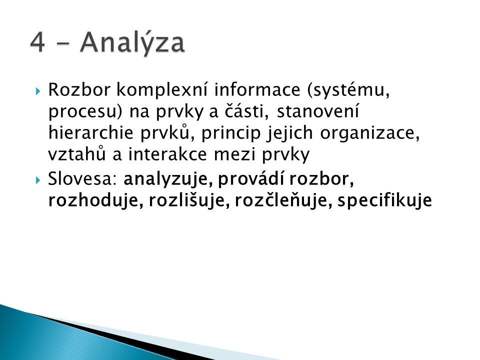 4 - Analýza