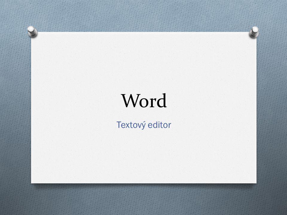 Word Textový editor