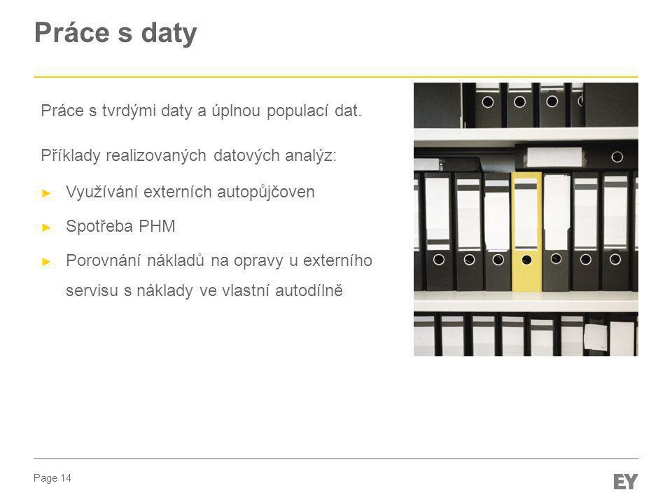 Práce s daty Práce s tvrdými daty a úplnou populací dat.