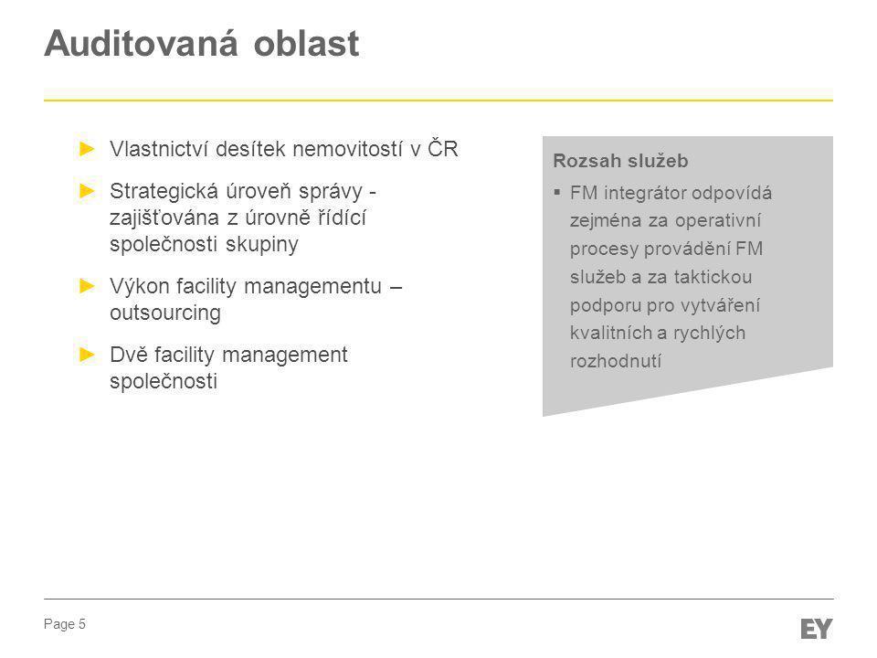 Auditovaná oblast Vlastnictví desítek nemovitostí v ČR