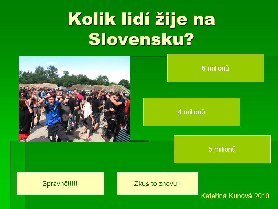 Kolik lidí žije na Slovensku