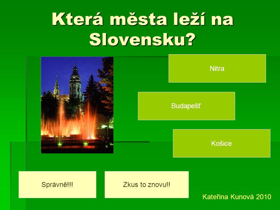 Která města leží na Slovensku