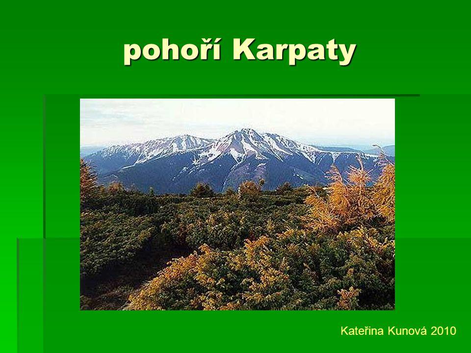 pohoří Karpaty Kateřina Kunová 2010