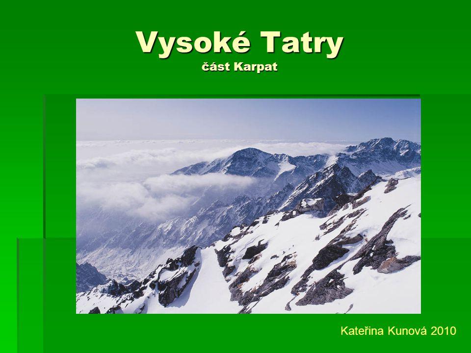 Vysoké Tatry část Karpat