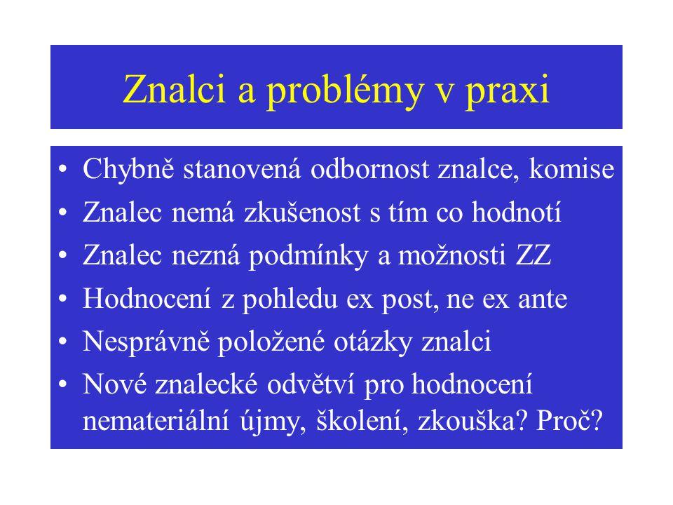 Znalci a problémy v praxi