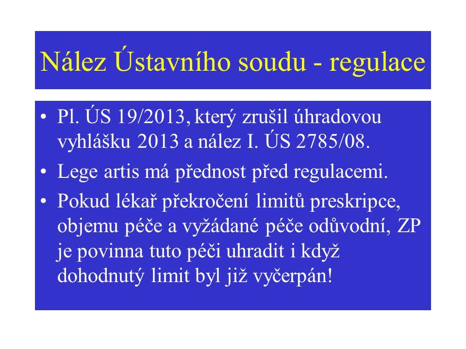 Nález Ústavního soudu - regulace
