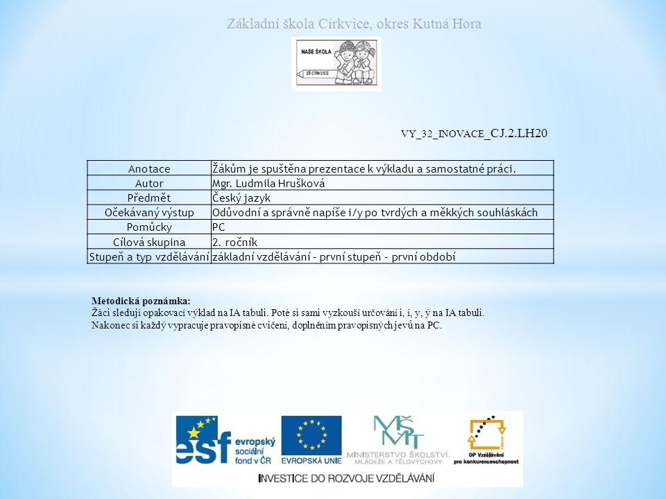 Základní škola Církvice, okres Kutná Hora