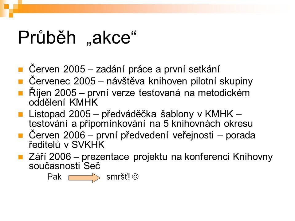 """Průběh """"akce Červen 2005 – zadání práce a první setkání"""