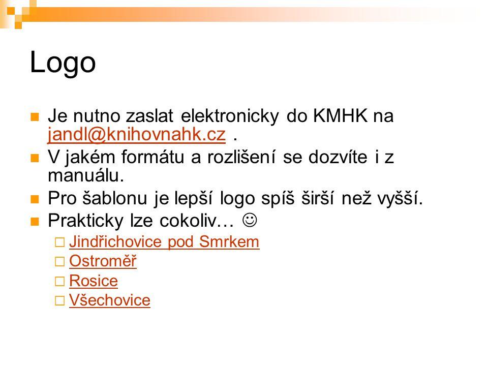 Logo Je nutno zaslat elektronicky do KMHK na jandl@knihovnahk.cz .