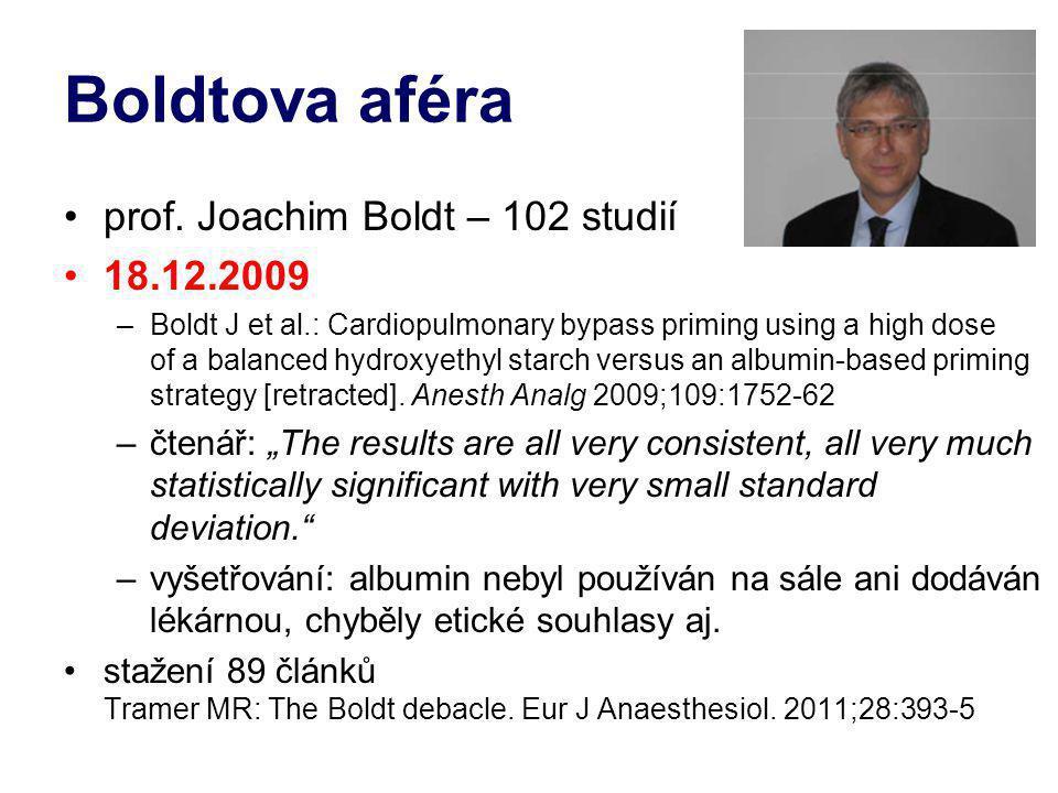 Boldtova aféra prof. Joachim Boldt – 102 studií 18.12.2009