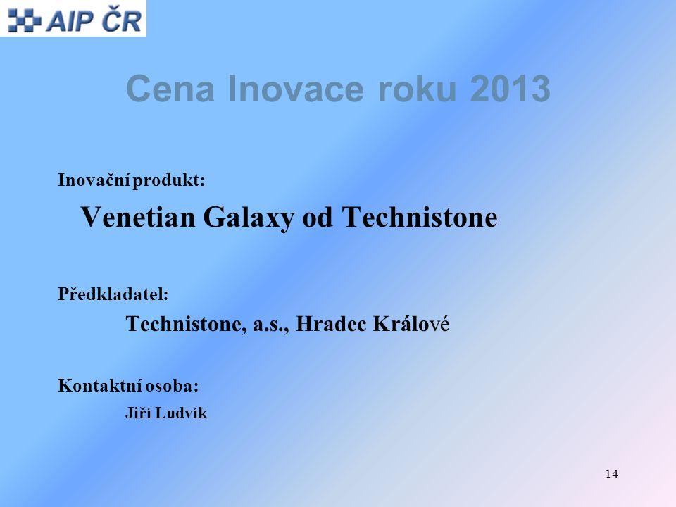Cena Inovace roku 2013 Venetian Galaxy od Technistone