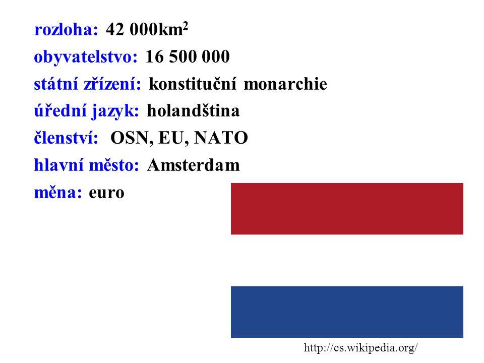 státní zřízení: konstituční monarchie úřední jazyk: holandština