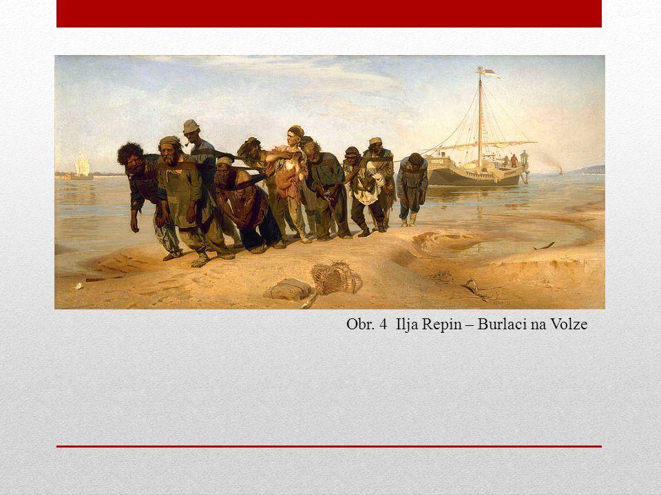 Obr. 4 Ilja Repin – Burlaci na Volze