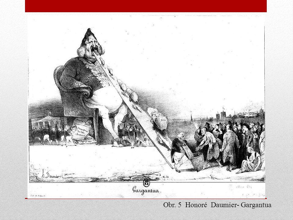 Obr. 5 Honoré Daumier- Gargantua