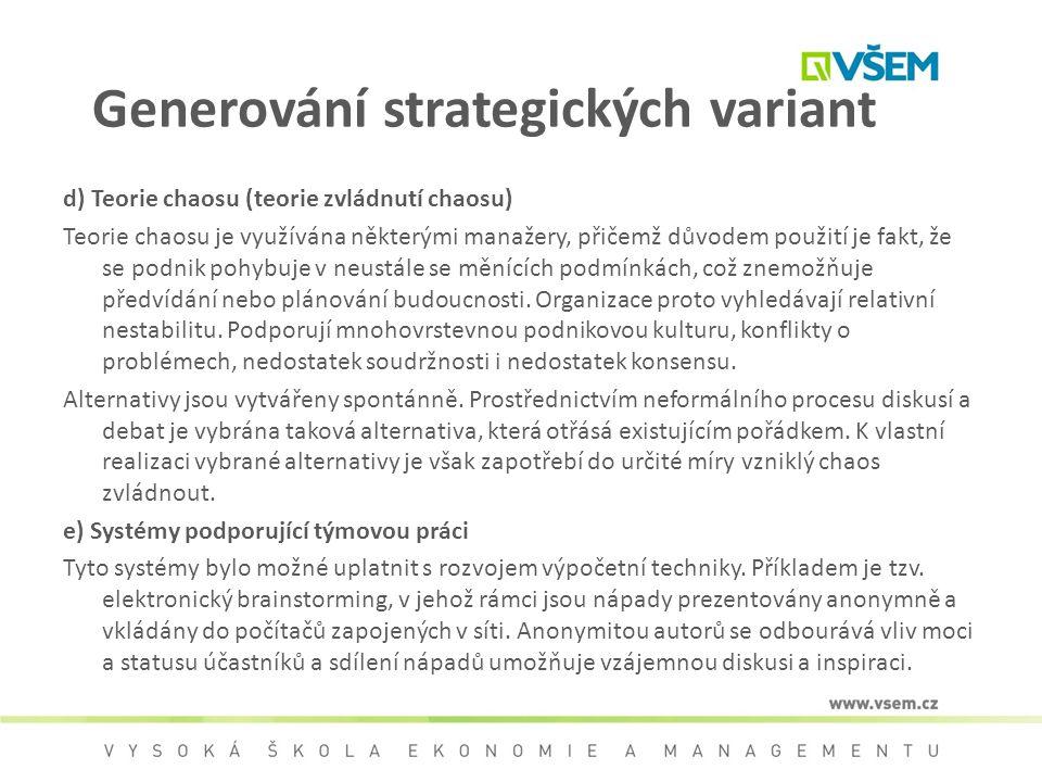 Generování strategických variant