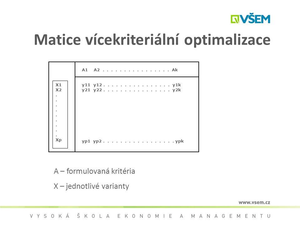 Matice vícekriteriální optimalizace