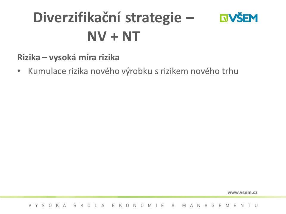 Diverzifikační strategie – NV + NT