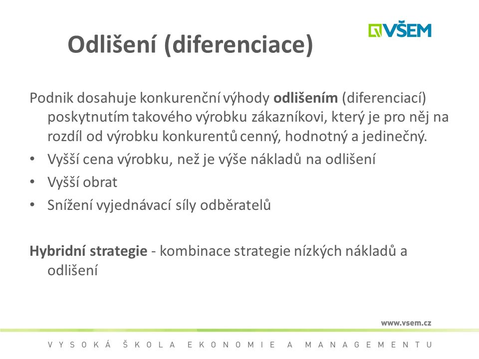 Odlišení (diferenciace)