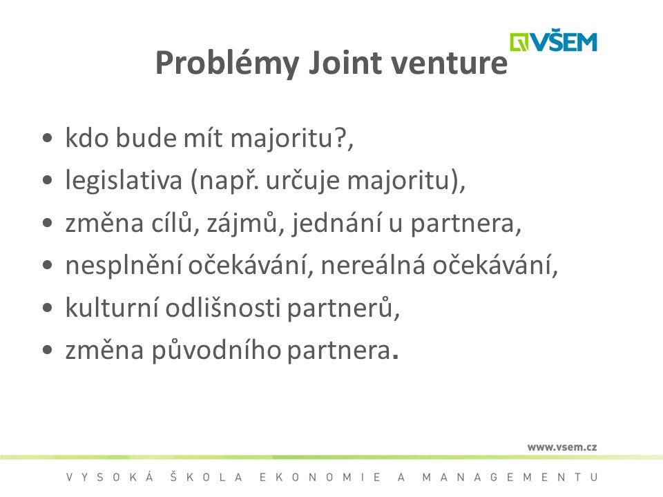 Problémy Joint venture