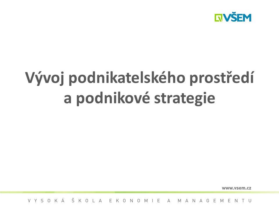 Vývoj podnikatelského prostředí a podnikové strategie