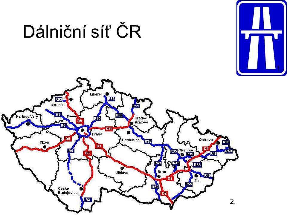 Dálniční síť ČR 1. 2.