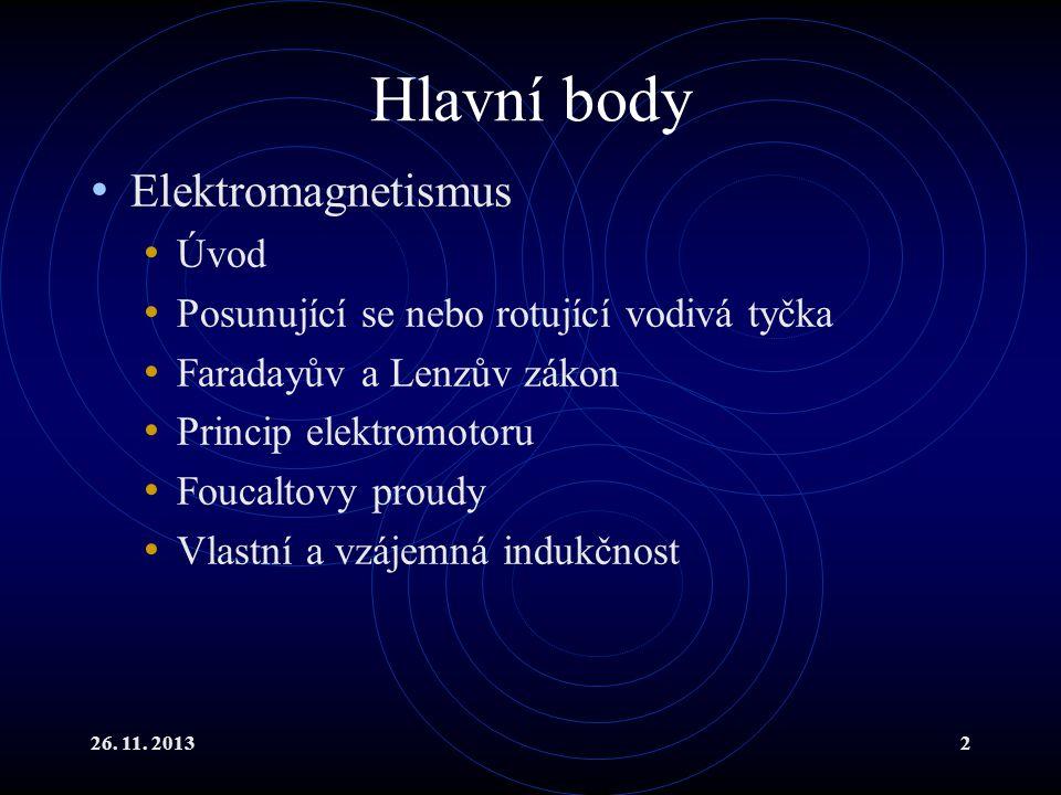 Hlavní body Elektromagnetismus Úvod
