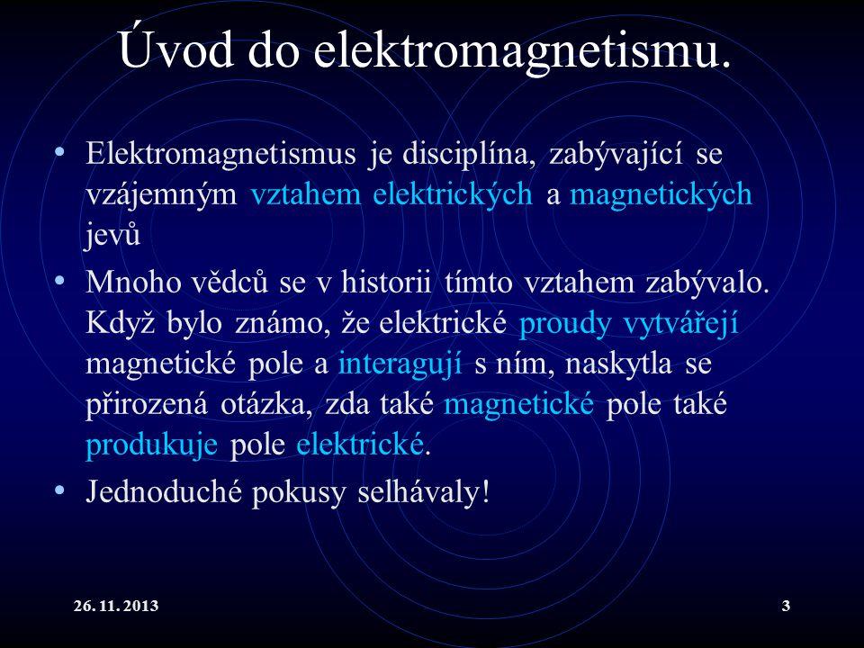 Úvod do elektromagnetismu.