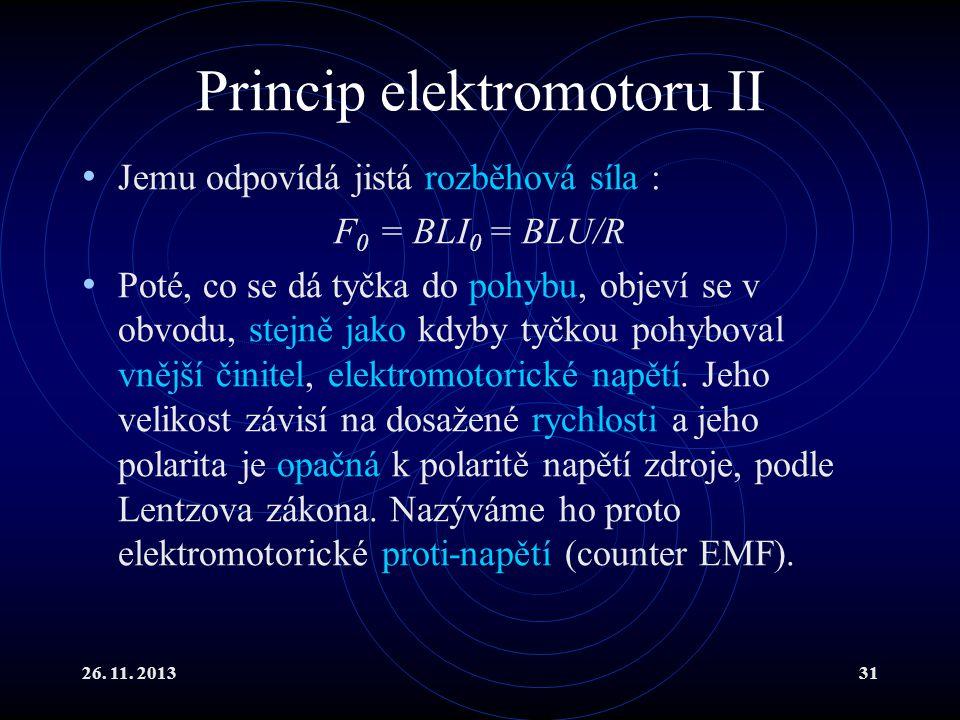 Princip elektromotoru II
