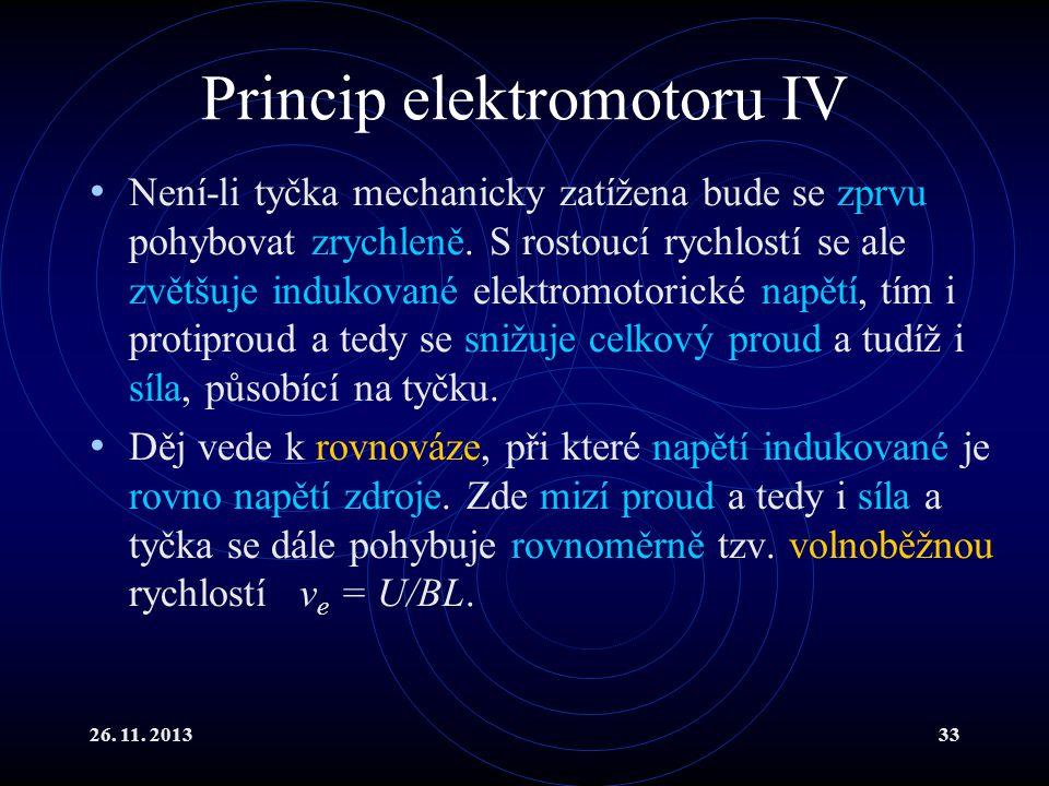 Princip elektromotoru IV