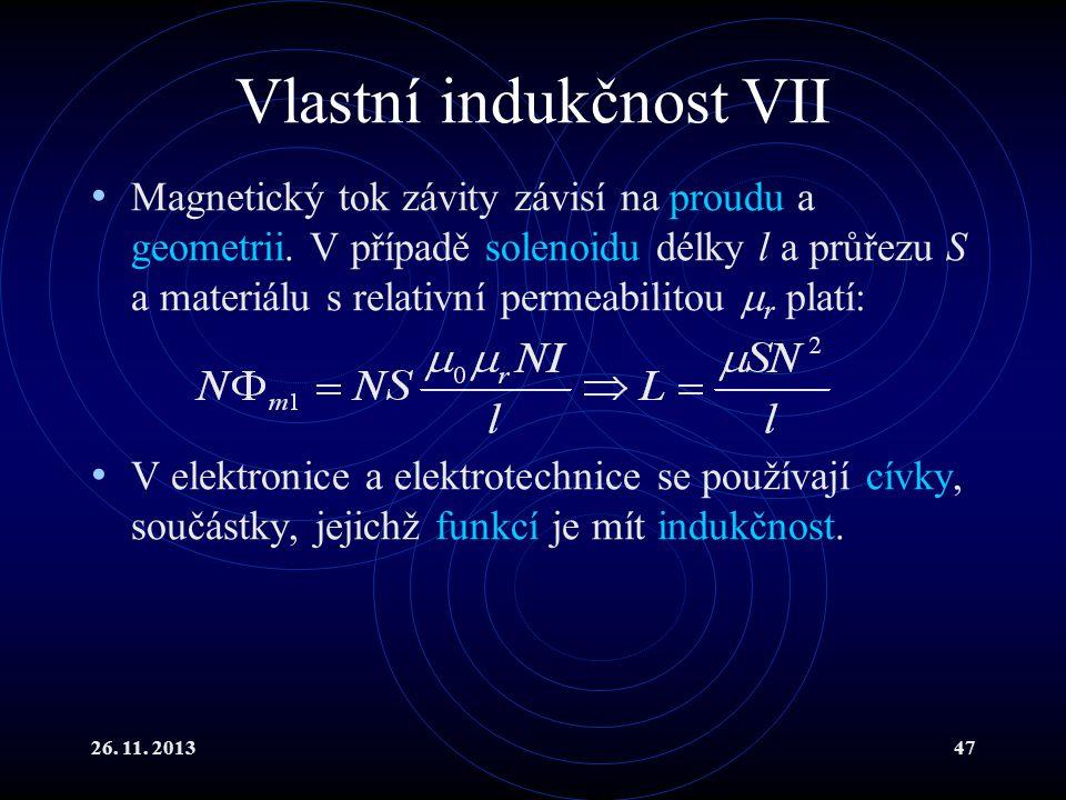 Vlastní indukčnost VII