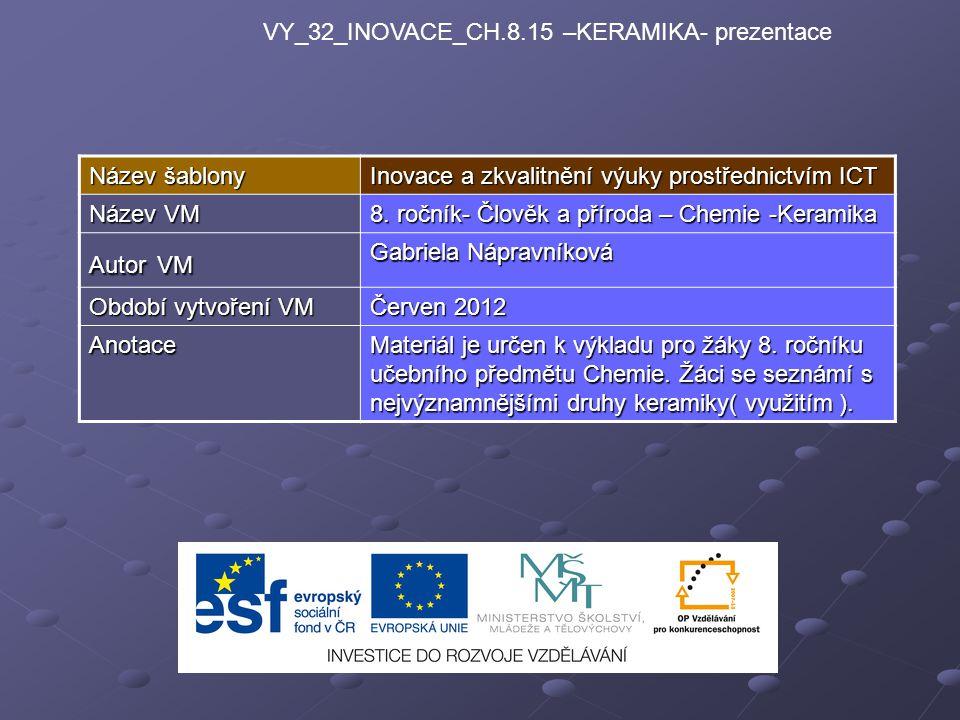 VY_32_INOVACE_CH.8.15 –KERAMIKA- prezentace