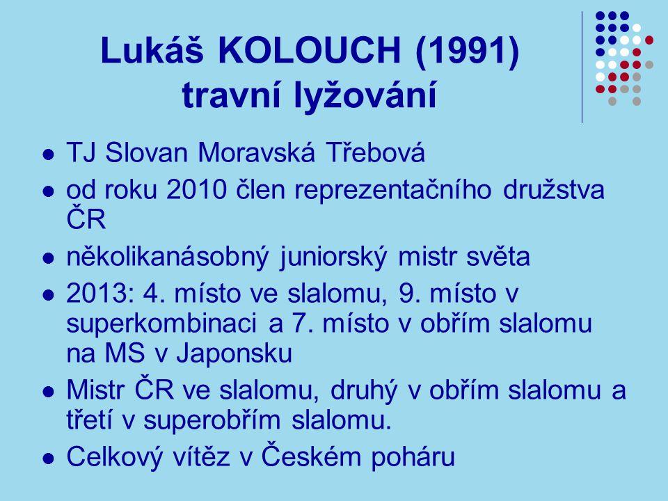 Lukáš KOLOUCH (1991) travní lyžování