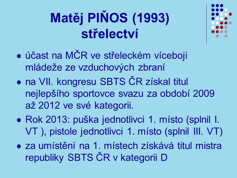 Matěj PIŇOS (1993) střelectví