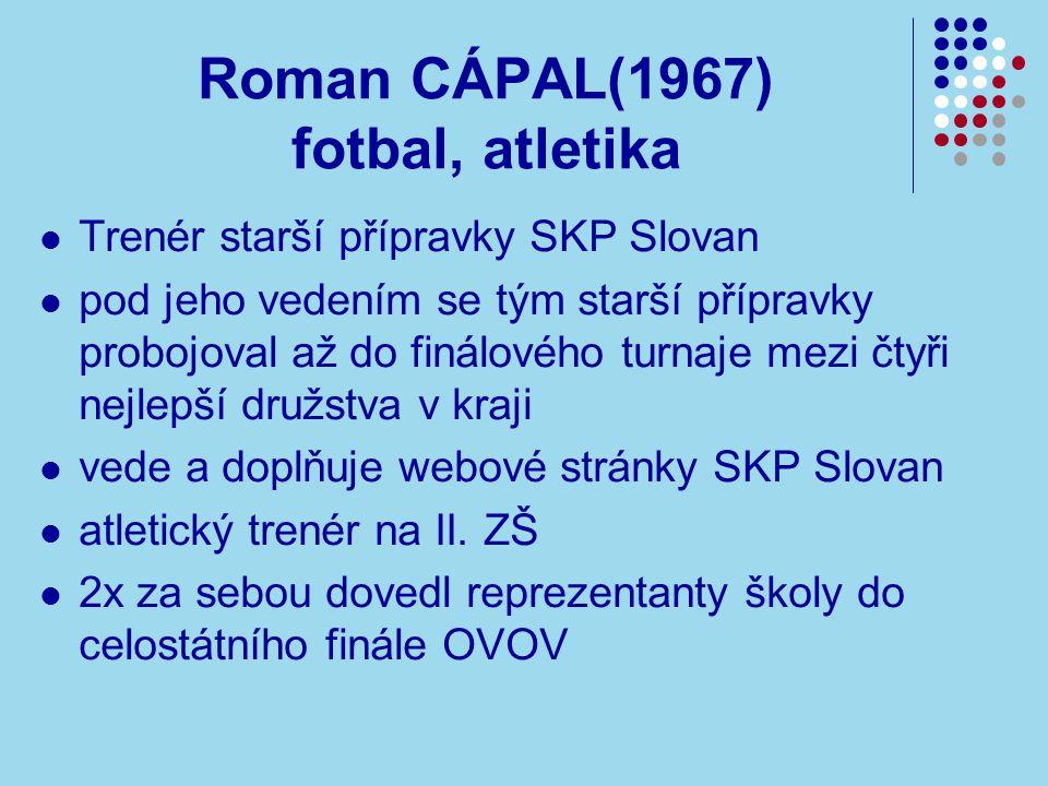 Roman CÁPAL(1967) fotbal, atletika