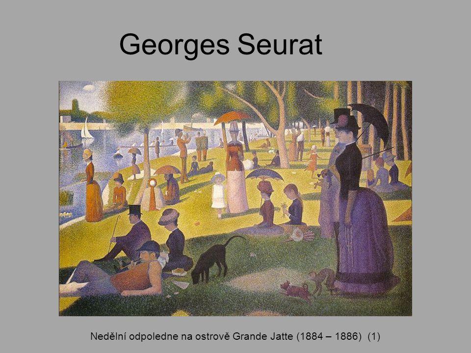 Nedělní odpoledne na ostrově Grande Jatte (1884 – 1886) (1)