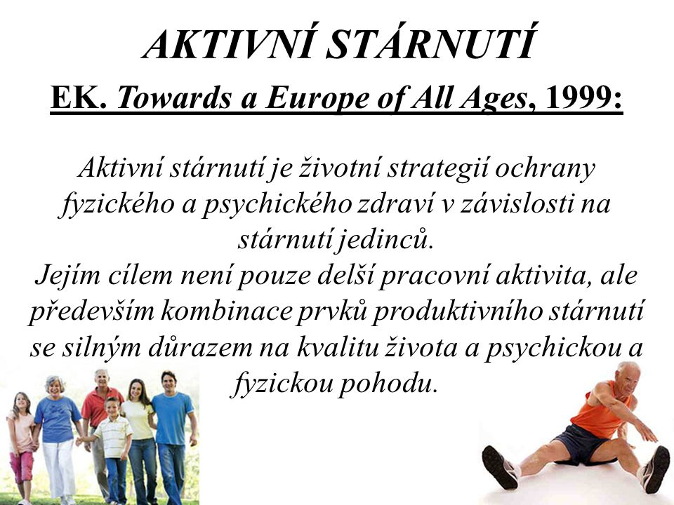 EK. Towards a Europe of All Ages, 1999: