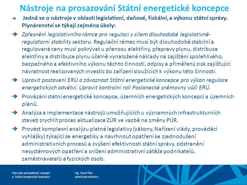 Nástroje na prosazování Státní energetické koncepce