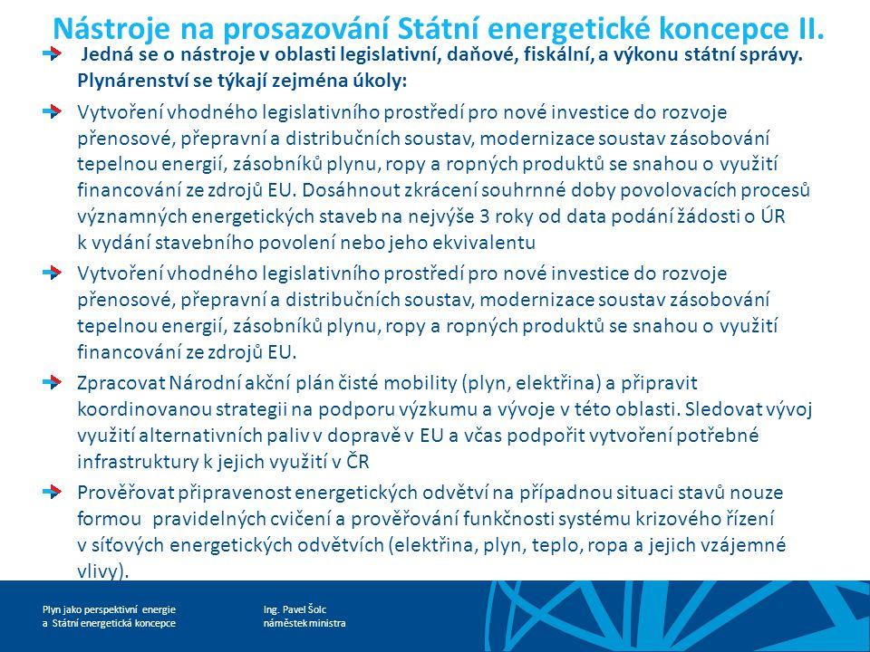 Nástroje na prosazování Státní energetické koncepce II.