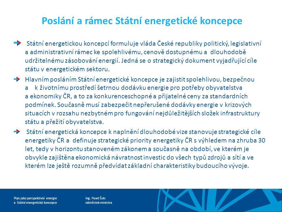 Poslání a rámec Státní energetické koncepce