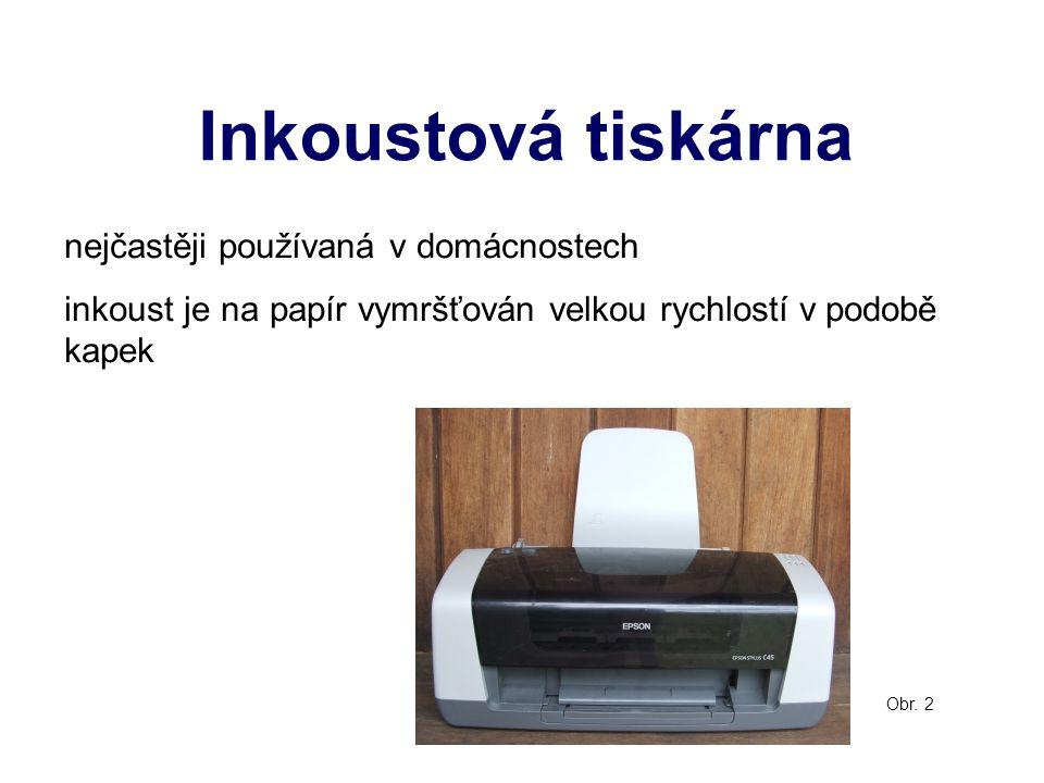 Inkoustová tiskárna nejčastěji používaná v domácnostech