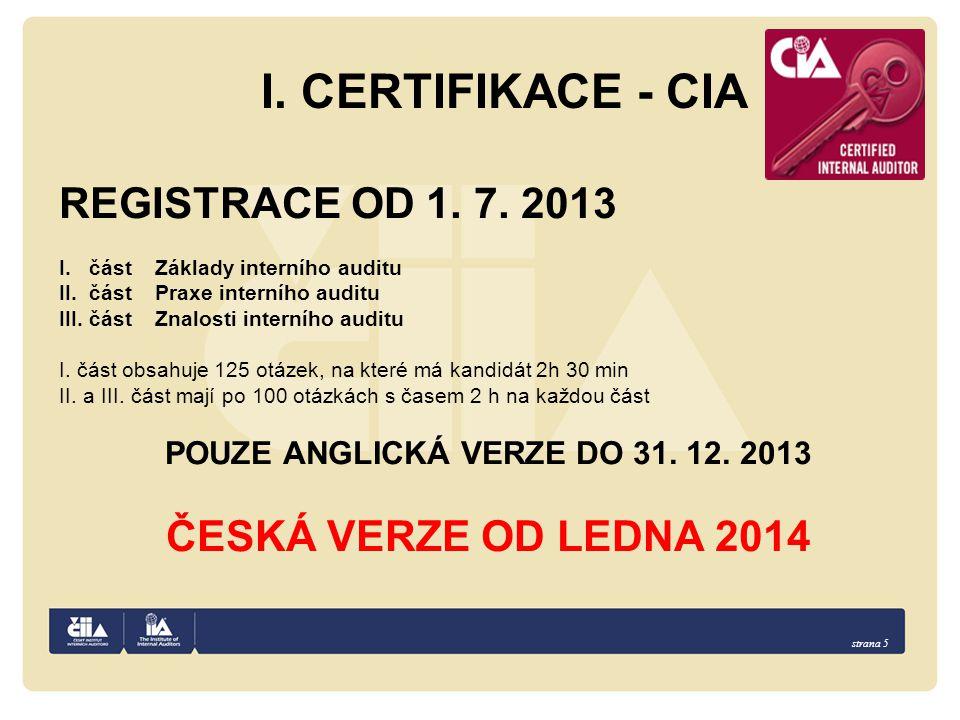 POUZE ANGLICKÁ VERZE DO 31. 12. 2013